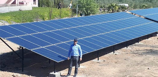 Resun Solar panels are well used for Morocco market for different kinds of projects system works