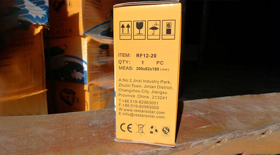 Solar Batteries RF12-20