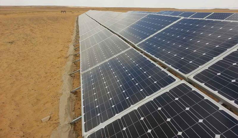 Restar 78KW ground solar power station in Alexandria Egypt , May 2015